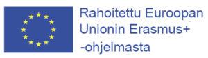 Logo: Rahoitettu Euroopan Unionin Erasmus+ -ohjelmasta
