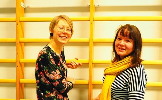 Valterin ohjaava opettaja Anne Paavola ja koulupsykologi Ulla Sopanen.