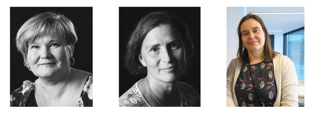 Nettikahvilan pitävät 26.1. Valterin ohjaava opettaja Tiina Pilbacka-Rönkä ja Sari Granroth-Nalkki sekä Opetushallituksen opetusneuvos Riia Palmqvist.