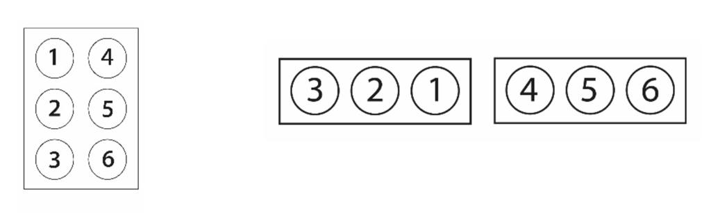 Kuvassa on pistemerkkien paikat osoittava kaavio ja piirroskuva pistepalikasta.
