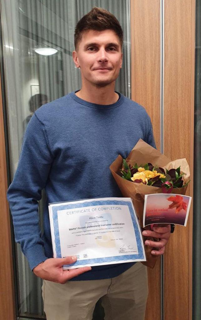 Klaus Tanttu valmistui MAPA -erityistason kouluttajaksi 7.9.